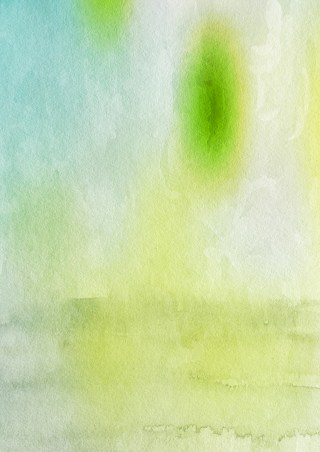 Blue Green and White Grunge Watercolor Texture Image