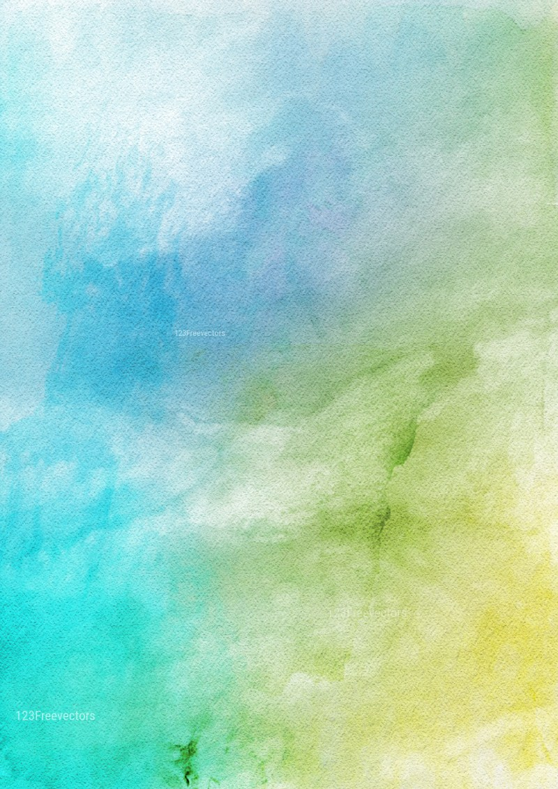 Blue Green and White Watercolor Texture