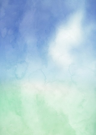 Blue Green and White Watercolor Texture Background Image