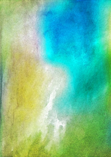 Blue Green and Yellow Watercolor Background Texture
