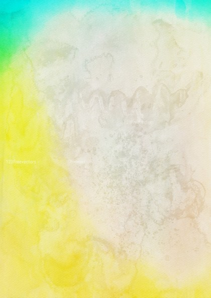 Blue Yellow and White Grunge Watercolour Background Image