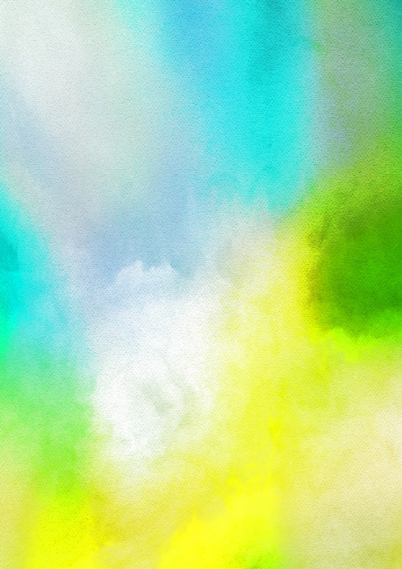 Blue Yellow and White Grunge Watercolour Background