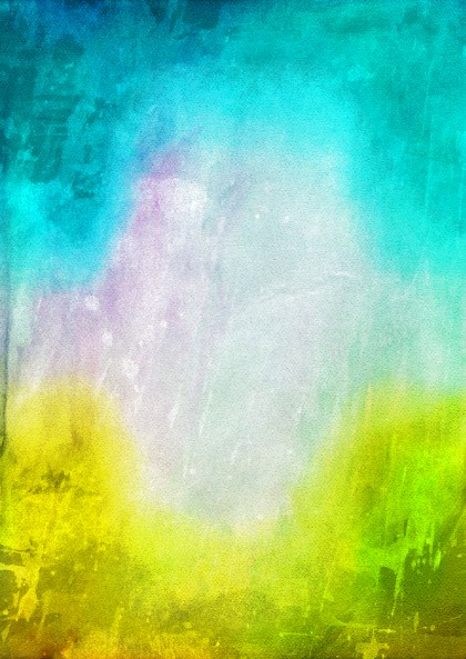 Blue Yellow and White Grunge Watercolor Background Image
