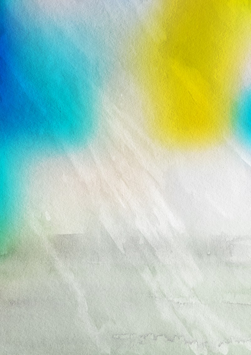 Blue Yellow and White Watercolour Grunge Texture Background