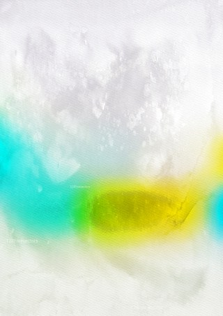 Blue Yellow and White Distressed Watercolor Background