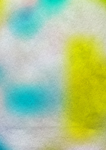 Blue Yellow and White Water Paint Background Image
