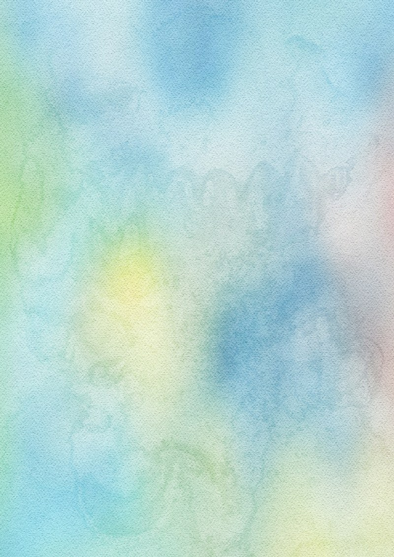 Blue Yellow and White Water Paint Background