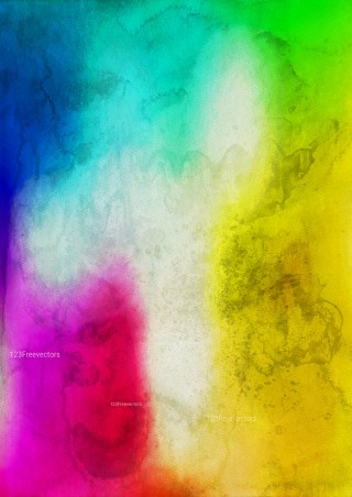 Colorful Grunge Watercolour Texture Image