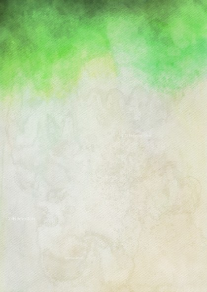 Green and Beige Watercolor Texture Background Image