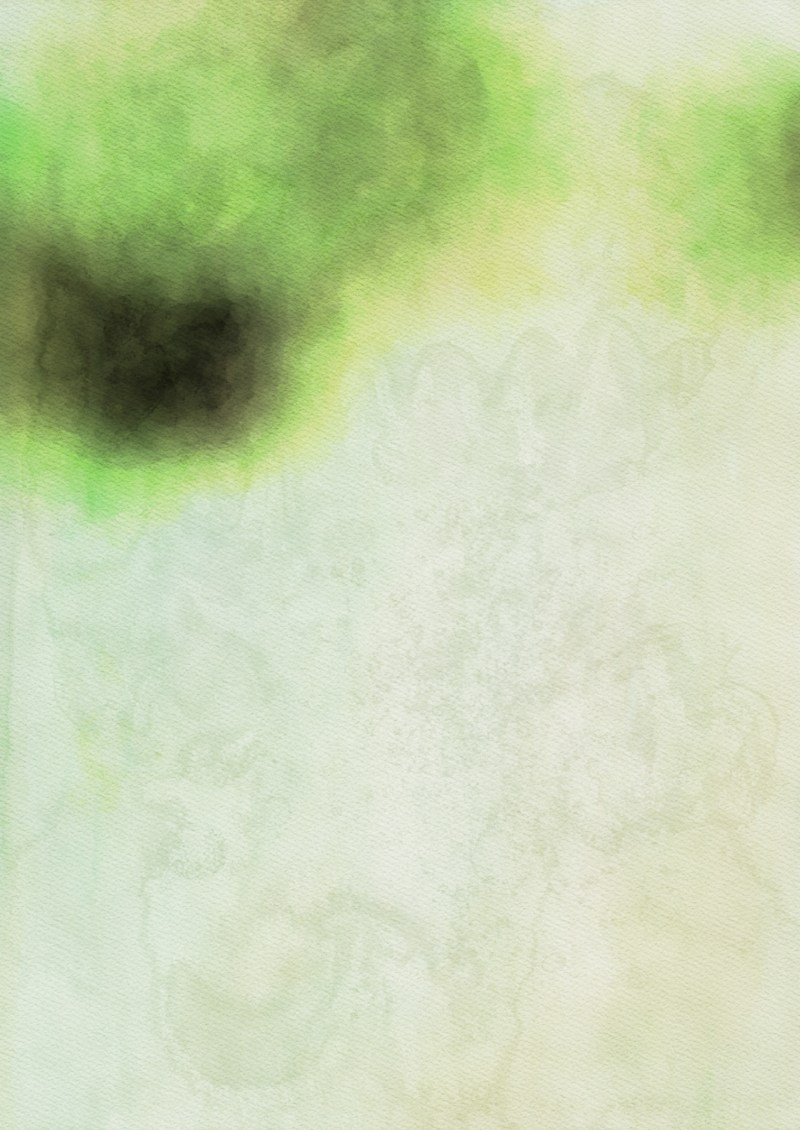 Green and Beige Grunge Watercolour Background