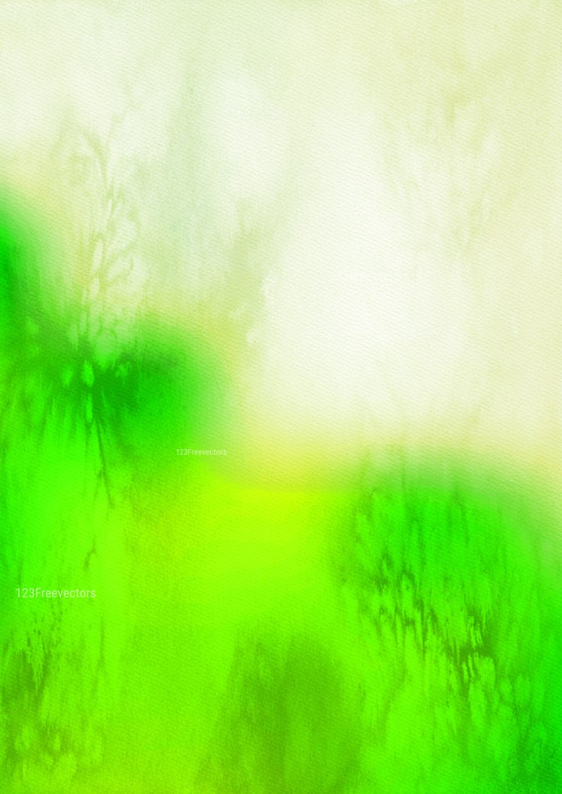 Green and Beige Watercolor Texture Background