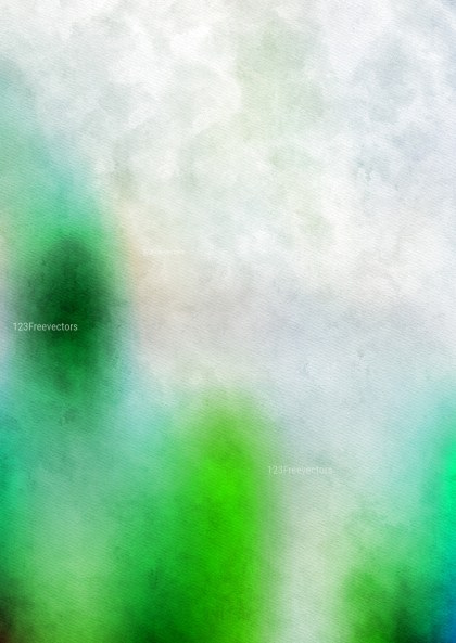 Green and White Watercolor Background Texture Image