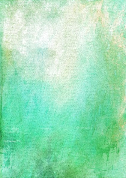 Green and White Watercolor Background