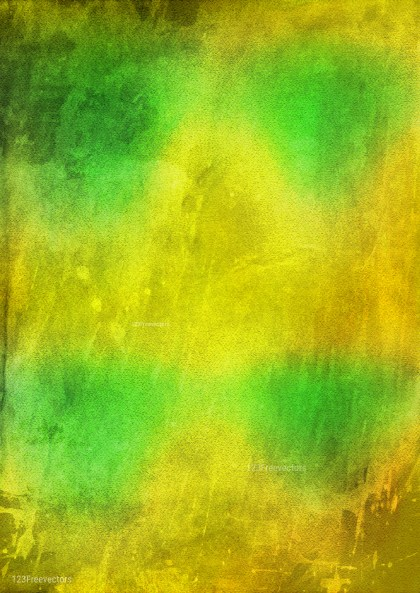 Green and Yellow Watercolor Background Design Image