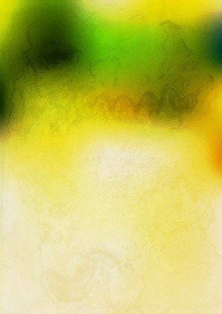Green and Yellow Watercolor Texture Image