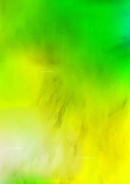 Green and Yellow Watercolor Background Image