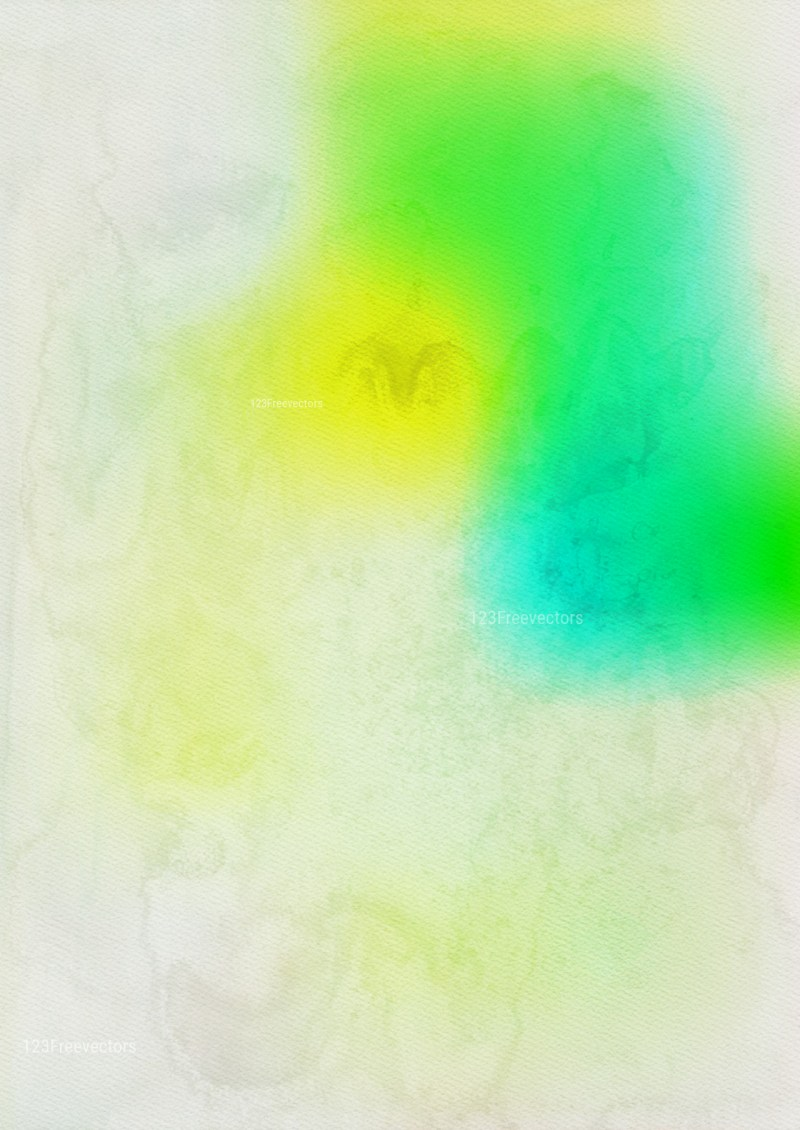 Green and Yellow Grunge Watercolour Background Image