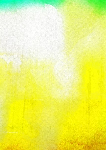 Green Yellow and White Watercolor Texture Background Image