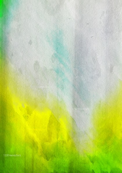 Green Yellow and White Grunge Watercolor Background Image