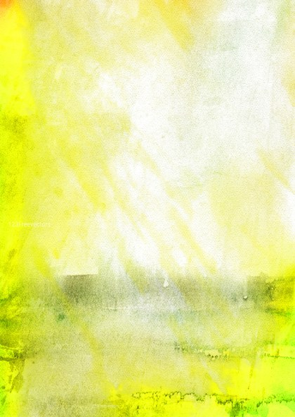 Green Yellow and White Watercolor Texture Background