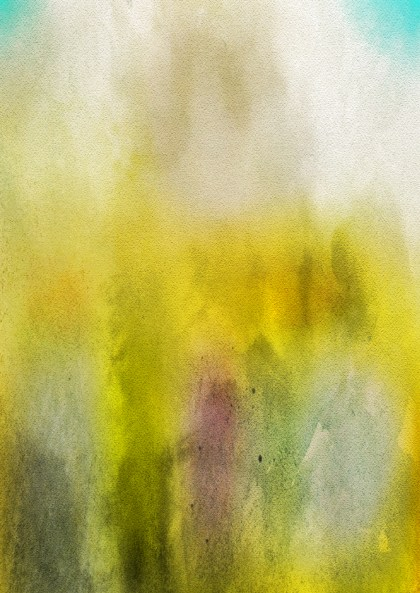 Green Yellow and White Watercolour Background Texture