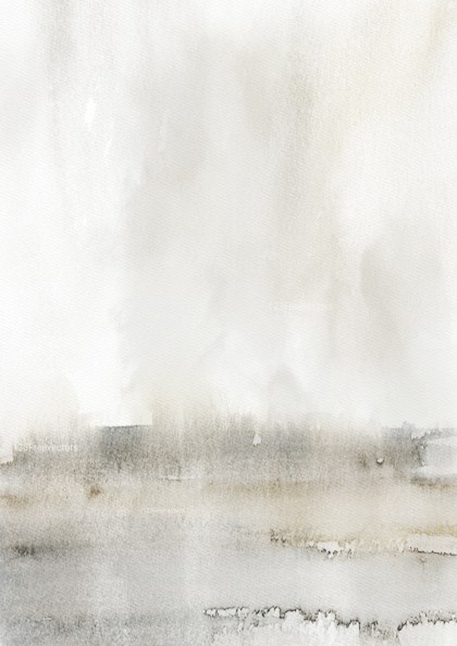 Grey and White Watercolour Background Texture Image