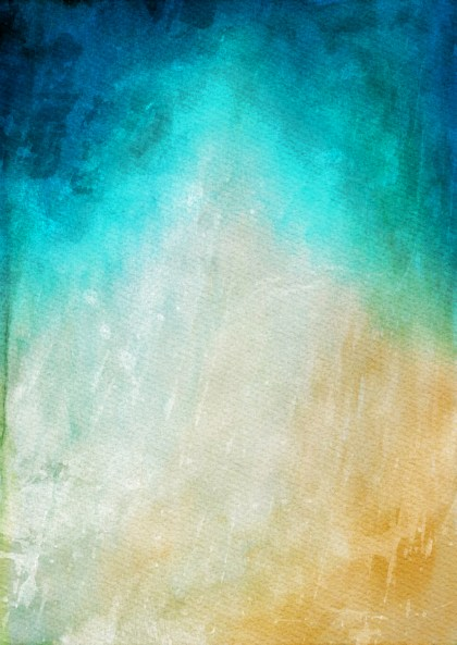 Orange Blue and Grey Watercolor Texture Background