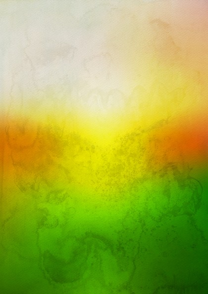 Orange White and Green Watercolor Background Texture