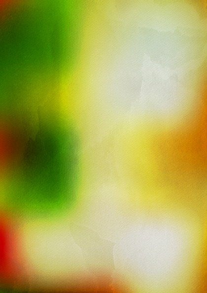 Orange White and Green Watercolor Background Image