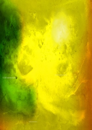 Orange Yellow and Green Watercolour Background Image