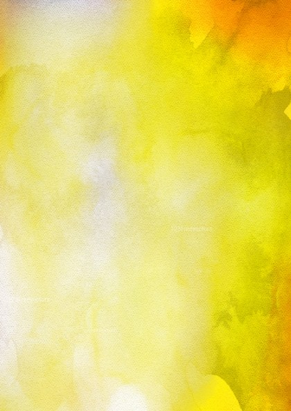 Orange Yellow and White Watercolor Background