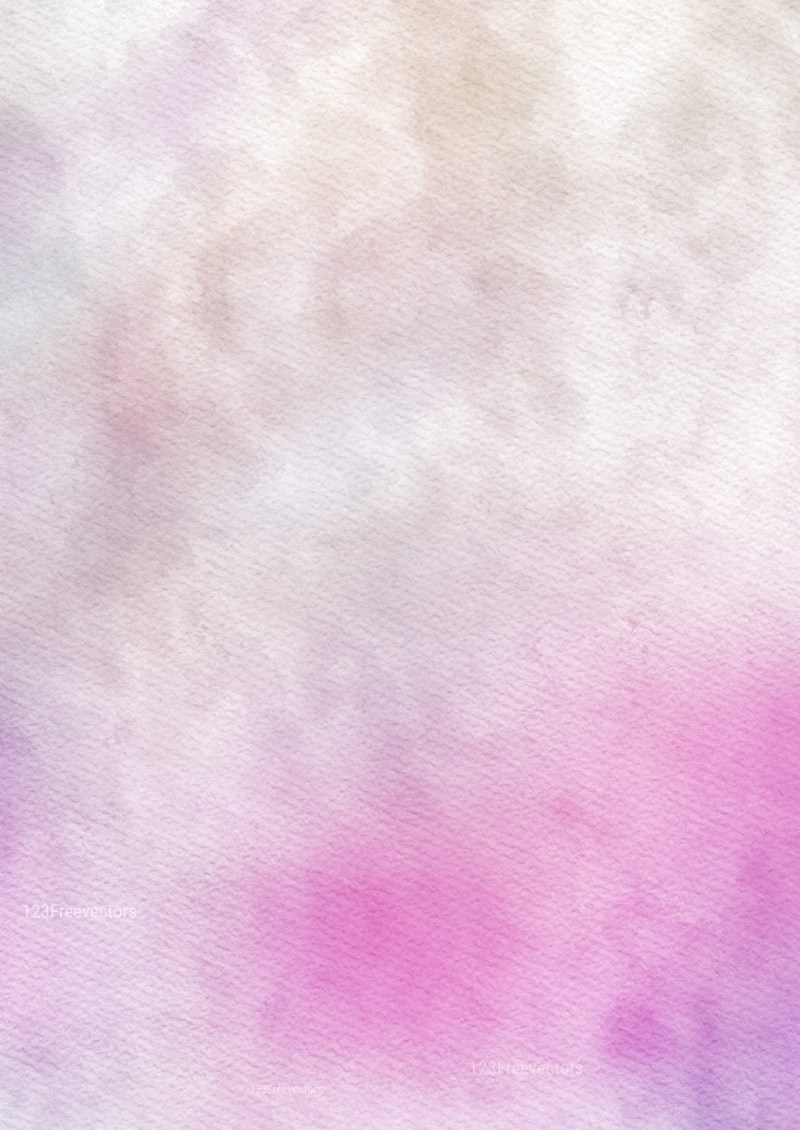 Pink and White Watercolour Background Image