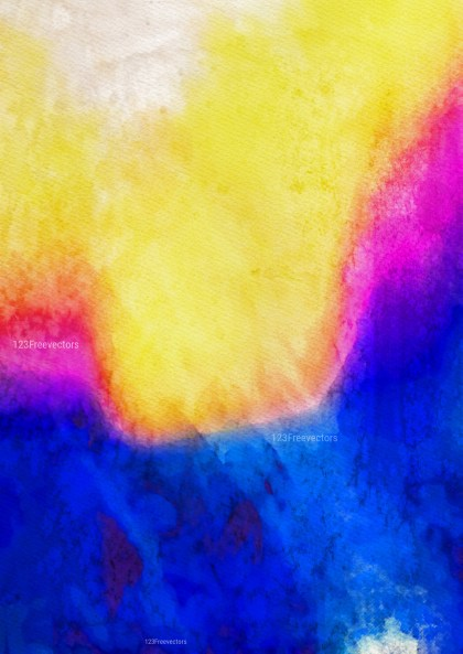 Pink Blue and Yellow Watercolor Texture