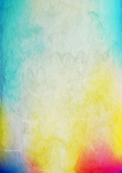 Pink Blue and Yellow Aquarelle Texture Image