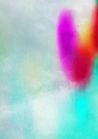 Pink Red and Blue Watercolor Background Design Image