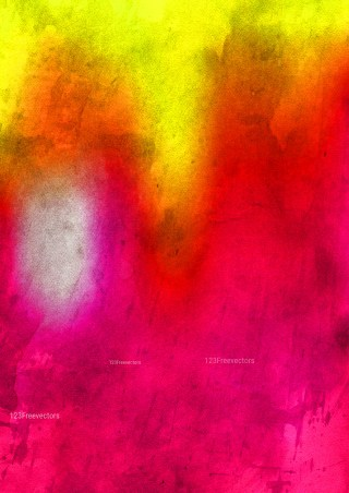 Pink Red and Yellow Water Paint Background Image