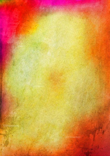 Pink Red and Yellow Watercolor Background Texture Image