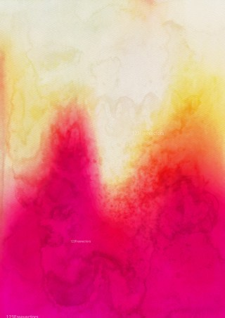 Pink Yellow and Beige Watercolor Texture Background