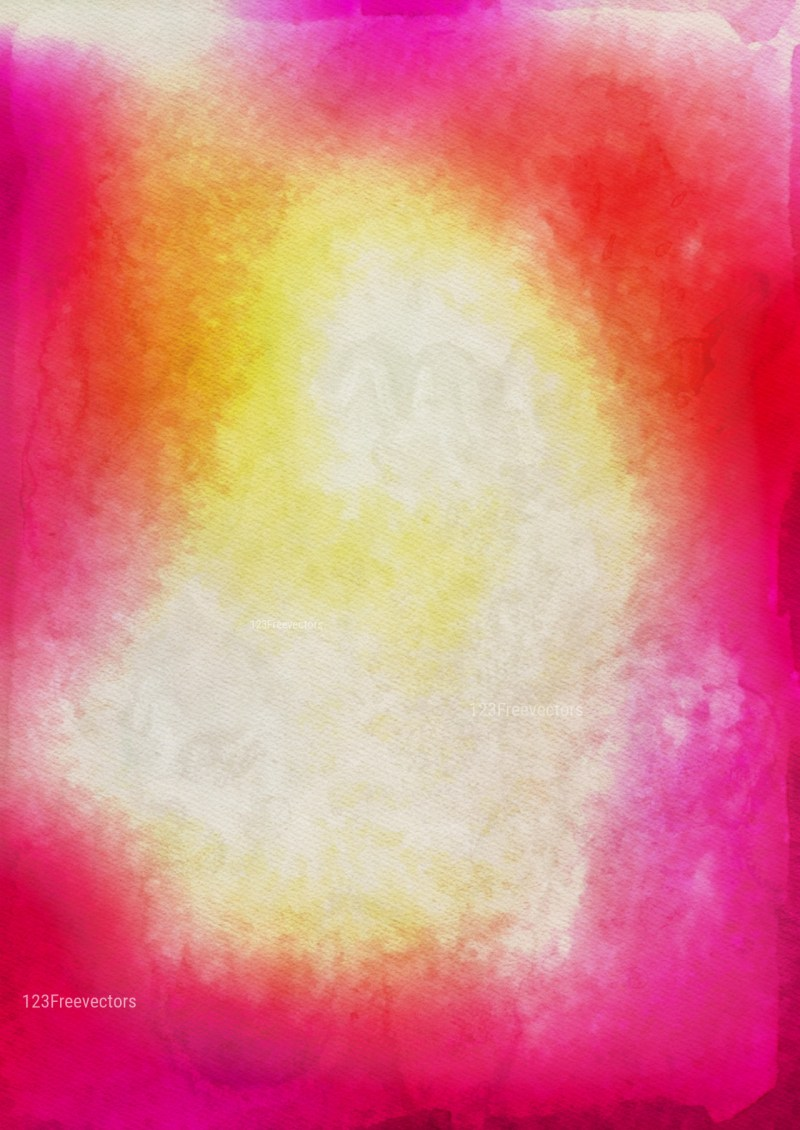 Pink Yellow and Beige Watercolour Background Image