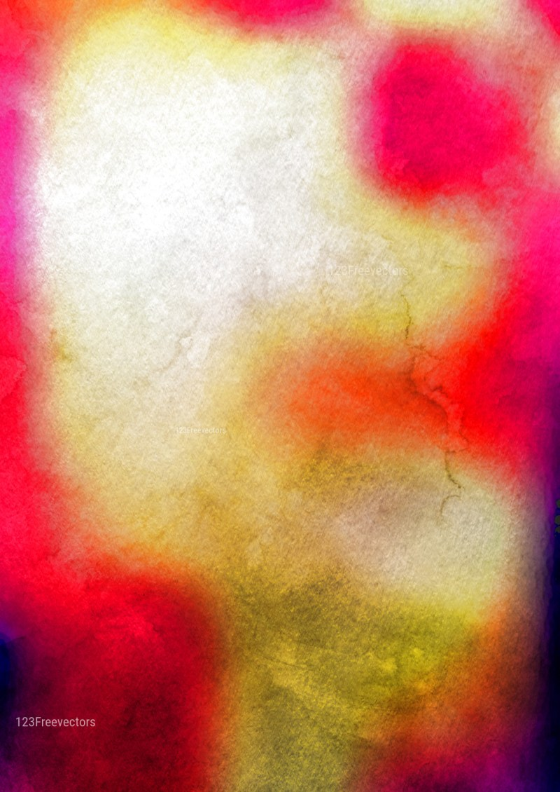 Pink Yellow and Beige Watercolour Background Texture Image