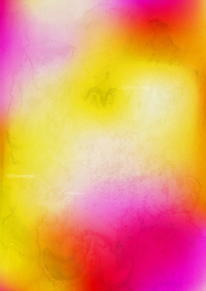 Pink Yellow and Beige Watercolour Background