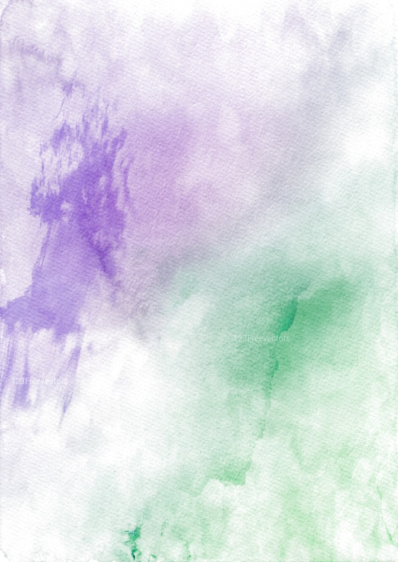 Purple Green and White Watercolour Texture Image
