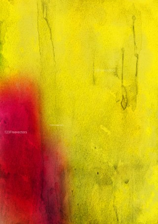 Red and Yellow Watercolour Grunge Texture Background Image
