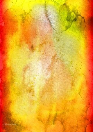 Red and Yellow Grunge Watercolour Texture Image
