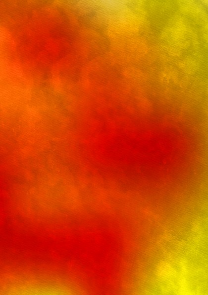 Red and Yellow Distressed Watercolor Background