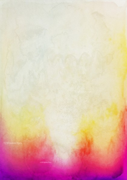 Red Purple and Yellow Grunge Watercolor Background