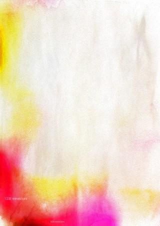 Red White and Yellow Aquarelle Background