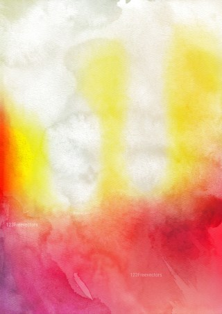Red White and Yellow Grunge Watercolour Background