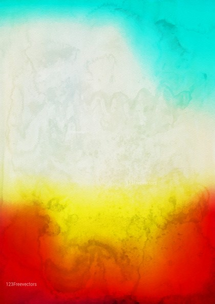 Red Yellow and Blue Watercolor Grunge Texture Background