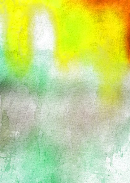 Red Yellow and Green Watercolour Background Texture Image